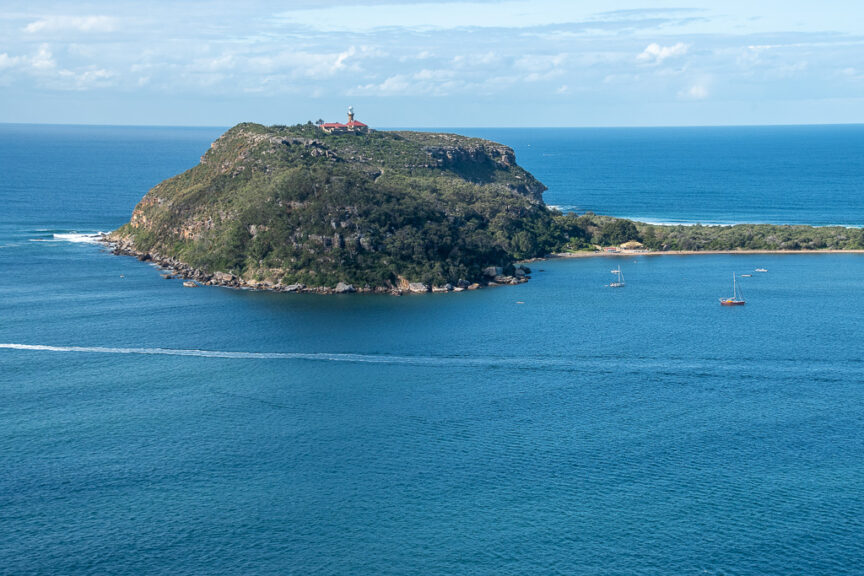 West Head view of Barrenjoey Lighthouse