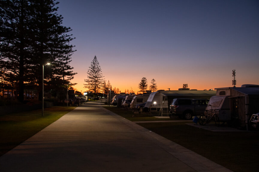 Sunset at Kingscliff CP