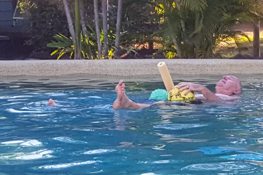 A cooling swim